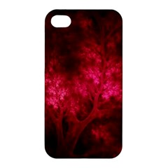 Artsy Red Trees Apple Iphone 4/4s Hardshell Case by allthingseveryone