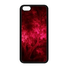 Artsy Red Trees Apple Iphone 5c Seamless Case (black) by allthingseveryone