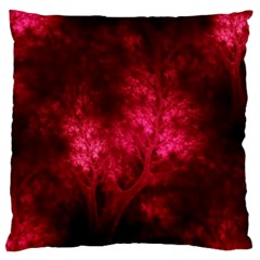 Artsy Red Trees Large Flano Cushion Case (two Sides) by allthingseveryone