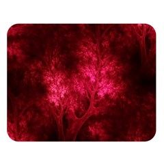 Artsy Red Trees Double Sided Flano Blanket (large)  by allthingseveryone