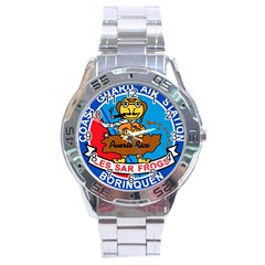 Coast Guard Air Station Borinquen Puerto Rico Stainless Steel Analogue Watch by allthingseveryday