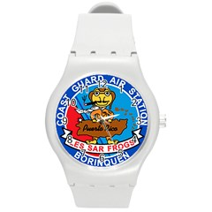 Coast Guard Air Station Borinquen Puerto Rico Round Plastic Sport Watch (m) by allthingseveryday