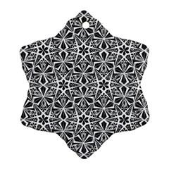 Star With Twelve Rays Pattern Black White Ornament (snowflake) by Cveti