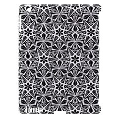Star With Twelve Rays Pattern Black White Apple Ipad 3/4 Hardshell Case (compatible With Smart Cover) by Cveti