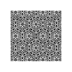 Star With Twelve Rays Pattern Black White Acrylic Tangram Puzzle (4  X 4 ) by Cveti