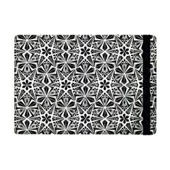 Star With Twelve Rays Pattern Black White Ipad Mini 2 Flip Cases by Cveti