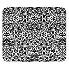 Star With Twelve Rays Pattern Black White Double Sided Flano Blanket (small)  by Cveti