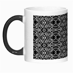 Black And White Ethnic Pattern Morph Mugs by dflcprints