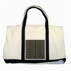 Black And White Ethnic Pattern Two Tone Tote Bag by dflcprints