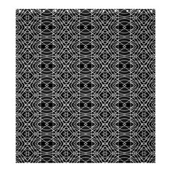 Black And White Ethnic Pattern Shower Curtain 66  X 72  (large)  by dflcprints