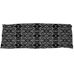 Black And White Ethnic Pattern Body Pillow Case Dakimakura (two Sides) by dflcprints