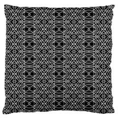 Black And White Ethnic Pattern Large Cushion Case (one Side) by dflcprints