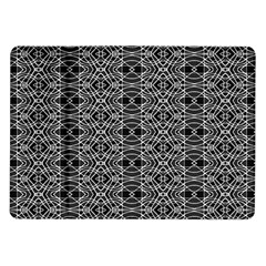 Black And White Ethnic Pattern Samsung Galaxy Tab 10 1  P7500 Flip Case by dflcprints