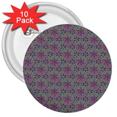 Flower Kaleidoscope Hand Drawing 2 3  Buttons (10 Pack)  by Cveti