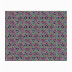 Flower Kaleidoscope Hand Drawing 2 Small Glasses Cloth by Cveti