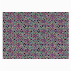 Flower Kaleidoscope Hand Drawing 2 Large Glasses Cloth (2 Side) by Cveti