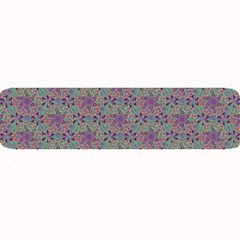 Flower Kaleidoscope Hand Drawing 2 Large Bar Mats by Cveti