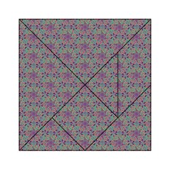 Flower Kaleidoscope Hand Drawing 2 Acrylic Tangram Puzzle (6  X 6 ) by Cveti