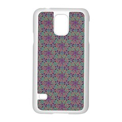Flower Kaleidoscope Hand Drawing 2 Samsung Galaxy S5 Case (white) by Cveti