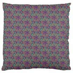 Flower Kaleidoscope Hand Drawing 2 Large Flano Cushion Case (two Sides) by Cveti