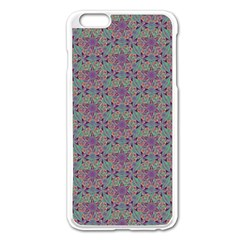 Flower Kaleidoscope Hand Drawing 2 Apple Iphone 6 Plus/6s Plus Enamel White Case by Cveti