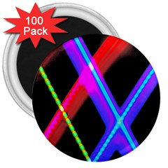 Xmas Light Paintings 3  Magnets (100 Pack) by Celenk
