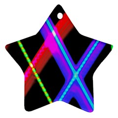 Xmas Light Paintings Star Ornament (two Sides)