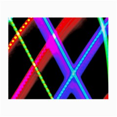 Xmas Light Paintings Small Glasses Cloth (2 Side) by Celenk