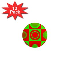 Redg Reen Christmas Background 1  Mini Magnet (10 Pack)  by Celenk