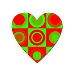 Redg Reen Christmas Background Heart Magnet by Celenk