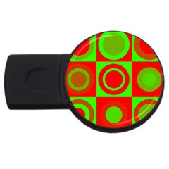 Redg Reen Christmas Background Usb Flash Drive Round (4 Gb) by Celenk