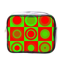 Redg Reen Christmas Background Mini Toiletries Bags by Celenk
