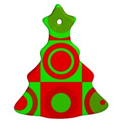 Redg Reen Christmas Background Christmas Tree Ornament (two Sides) by Celenk