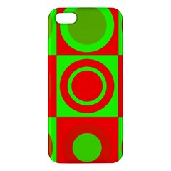 Redg Reen Christmas Background Apple Iphone 5 Premium Hardshell Case by Celenk