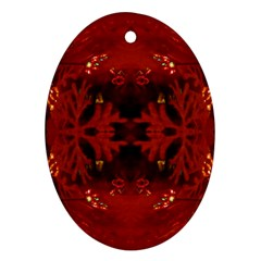 Red Abstract Ornament (oval) by Celenk