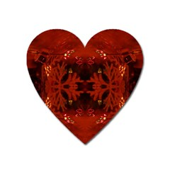 Red Abstract Heart Magnet by Celenk