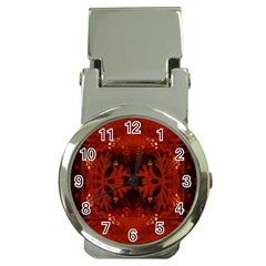 Red Abstract Money Clip Watches by Celenk