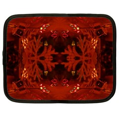 Red Abstract Netbook Case (large) by Celenk