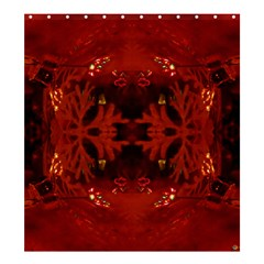 Red Abstract Shower Curtain 66  X 72  (large)  by Celenk