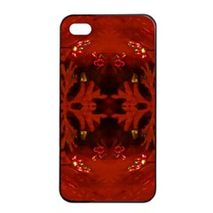 Red Abstract Apple Iphone 4/4s Seamless Case (black) by Celenk
