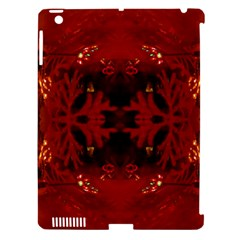 Red Abstract Apple Ipad 3/4 Hardshell Case (compatible With Smart Cover) by Celenk