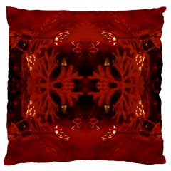 Red Abstract Large Cushion Case (two Sides) by Celenk