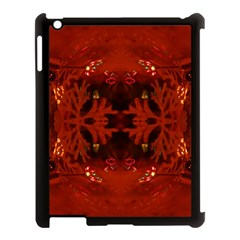 Red Abstract Apple Ipad 3/4 Case (black) by Celenk