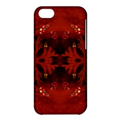 Red Abstract Apple Iphone 5c Hardshell Case by Celenk