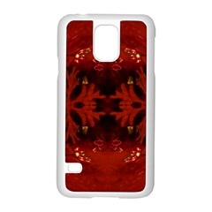 Red Abstract Samsung Galaxy S5 Case (white) by Celenk