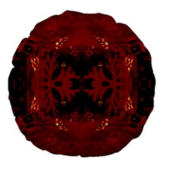 Red Abstract Large 18  Premium Flano Round Cushions by Celenk