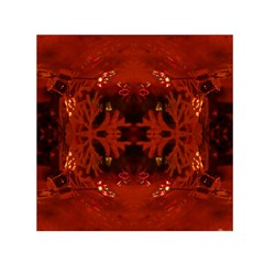 Red Abstract Small Satin Scarf (square) by Celenk