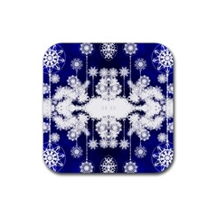 The Effect Of Light  Very Vivid Colours  Fragment Frame Pattern Rubber Square Coaster (4 Pack)  by Celenk