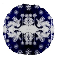 The Effect Of Light  Very Vivid Colours  Fragment Frame Pattern Large 18  Premium Flano Round Cushions by Celenk