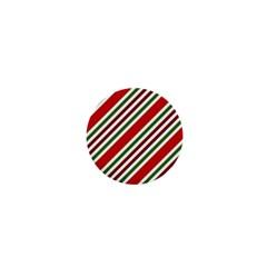 Christmas Color Stripes 1  Mini Buttons by Celenk